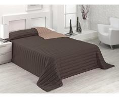 SABANALIA Tutto Tagesdecke Winter (erhältlich in verschiedenen Größen und Farben) Bettwäsche 135 – 230 x 270, Schokolade/Erde