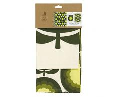 Orla Kiely Geschirrtuch Set von 2Â Melone Melone Olive, Baumwolle, Multi/farbige, 0,4Â x 5.1Â x 7Â cm