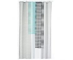 kela Duschvorhang Lamita 180x200cm aus Polyester in türkis 200 x 180 x 0.8 cm