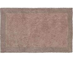 Grund organisch & beidseitig verwendbar Badteppich 100% Bio-Baumwolle, ultra soft, ÖKO-TEX-zertifiziert, 5 Jahre Garantie, LUXOR, Badematte 60x100 cm, taupe