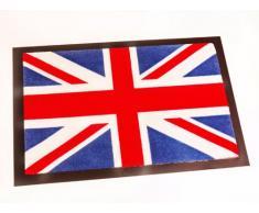 Hanse Home Fußmatte Schmutzfangmatte Union Jack Blau Rot Weiß, 40x60 cm