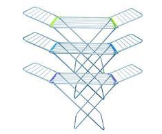 MSV 130085 Wäscheständer Flügelwäschetrockner Flügelwäscheständer aus hochwertigem Aluminium - rostfrei und wetterfest - 20 m