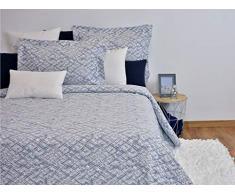MI CASA Tagesdecke, Baumwolle, Blau, 180 x 265 cm (90 cm)