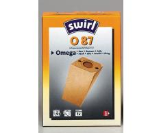 Swirl O 87 Spezialpapier Staubsaugerbeutel für Omega Staubsauger, Classic, 9 Stück inkl. Filter