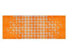 LifeStyle-Mat 200083 Chaos, rutschfester und waschbarer Läufer, ideal für die Garderobe, Küche oder Schlafzimmer, 67 x 170 cm, orange