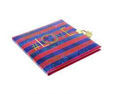 Goldbuch Tagebuch, # (Hastag) Love, 96 weiße Seiten, 16,5 x 16,5 cm, Schloss mit 2 Schlüsseln, Kunstdruck, Mint, 44301