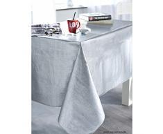 CALITEX Effekt Tissage Tischdecke PVC Silber 250Â x 140Â cm