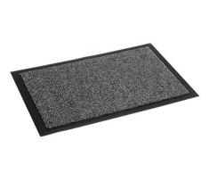 Fußmatte Nela für den Innenbereich - Türvorleger - Sauberlaufmatte - Fußabstreifer - Schmutzabstreifer - Fußabtreter, 60 x 80 cm, anthrazit