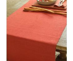 LinenMe Tischläufer Lara, Leinen, Orange 50 x 140 cm orange 0244201