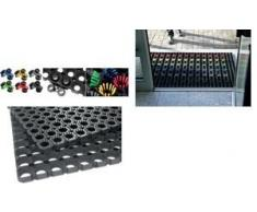 miltex Zubehör für Ringgummimatte, Bürsten, schwarz , 10er Pack