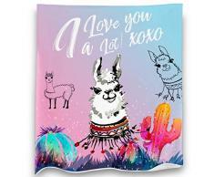 Loong Design Faultier-Überwurf, super weich, flauschig, Premium Sherpa-Fleece-Decke, 127 x 152 cm, für Sofa, Stuhl, Bett, Büro, Reisen, Camping, Geschenk 50x 60 Dream Llama
