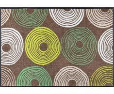 wash + dry 083207 Cyclone Fußmatte, Acryl, bunt, 75 x 50 x 0.7 cm