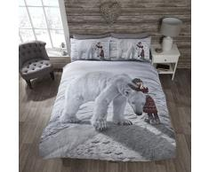 Rapport Polar Bär Quilt Bettbezug und Kissenbezüge Bettwäsche-Set, Mehrfarbig, Single