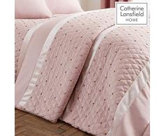 Catherine Lansfield Sequin Cluster Tagesdecke, Blush, Bedspread 240x260cm