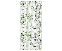Vallila CT001136-5 Luontopolku Vorhang Baumwoll-Mischgewebe Grün 140 x 250 cm