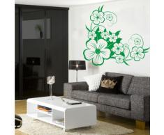INDIGOS 4052166143509 Wandtattoo w656 sehr schöne Blume Wandaufkleber 120 x 109 cm, grün