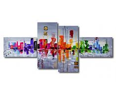 Visario Bild & Kunstdruck der deutschen Marke 160 x 70 cm 6515 Bilder auf Leinwand Kunstdrucke abstrakt Wandbild