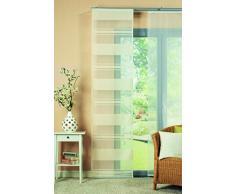Home fashion 87308-894 Schiebevorhang Juliana, Querstreifen, 245 x 60 cm, champagner