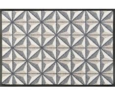 Wash + Dry Kubus Fußmatte, Acryl, beige, 50 x 75 x 0.7 cm