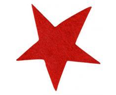 Petras Bastel News A-STF5203-28 Streudeko, 100 x Sterne 30 mm, filz/rot
