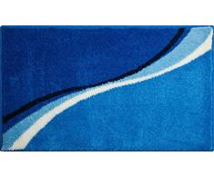 Grund Badteppich 100% Polyacryl, ultra soft, rutschfest, ÖKO-TEX-zertifiziert, 5 Jahre Garantie, LUCA, Badematte 80x140 cm, blau