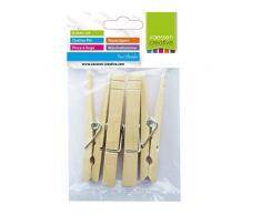 Vaessen Creative 3809-363 Wäscheklammern Holz, Ein farbe, One size
