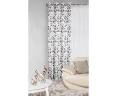 Eurofirany, Ösenschal Lidia, Stahl, 140x250 Vorhang, 100% Polyester, 0.02 x 140 x 250 cm