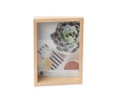Umbra Edge 13x18 cm Bilderrahmen für Fotos, Kunstdrucke, Illustrationen, Bilder, Graphiken und Mehr – Moderner Wand- und Tisch Fotorahmen aus Eschenholz, Natur