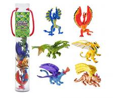 Toob Safari Lair of Dragons Drachenfiguren, 2,5 cm, Mehrfarbig