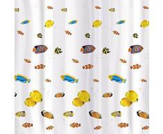 Tatkraft Blue Lagoon Vorhang für die Dusche 180x 180cm wasserdicht Textil Polyester 12Oval Ringe