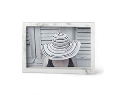 Umbra Edge 10x15 cm Bilderrahmen für Fotos, Kunstdrucke, Illustrationen, Bilder, Graphiken und Mehr – Moderner Wand-und Tisch Fotorahmen aus Marmor, Marmoroptik, 10x15