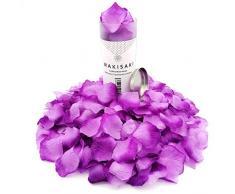 (Getrennt, Desodoriert) Künstliche gefälschte Rosenblätter für Romantische Nacht, Hochzeit, Event, Party, Dekoration, in loser Schüttung (1000 Stücke, Allmählicher Lavendel)