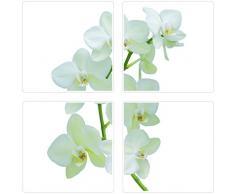 Plage 260500 Fliesen Sticker Smooth, Orchid, 4 Blätter, 14,5 x 14,5 cm