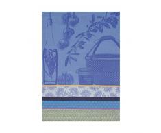 Le Jacquard Francais Geschirrtuch Spezialitäten Der Provence Baumwolle blau lavendel rechteckig 60x 80cm