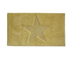 kela Badematte Lindano 65x55cm aus Baumwolle in gelb, 65 x 1 x 55 cm