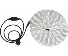 Globo Lichtschlauch mit 1.5 m Zuleitung und Stecker in schwarz inklusiv 24 LEDs je Laufmeter, 9 m, weiß 38971