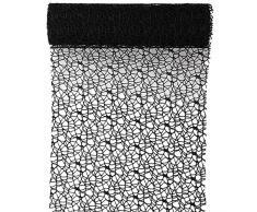 Tischläufer schwarz Spider 30cm x 5m- Dekostoff - Dekoration - Tischband - 4064