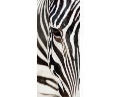 AG Design FTV 0211 Zebra, Papier Fototapete - 90x202 cm - 1 Teil, Papier, multicolor, 0,1 x 90 x 202 cm