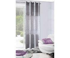 Eurofirany Vorhang, Stoff, Silber, 140 x 250 x 0,3 cm