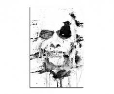 Paul Sinus Art The_Joker_The_Dark_Knight_90x60-SA Wandbild Leinwand, 90 x 50 x 3 cm, Mehrfarbig