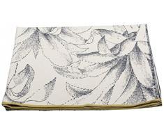 David Fussenegger Nova Überwurf Ananas, Baumwoll-Mischgewebe, Rohweiß, 220 x 145 cm