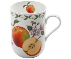 Maxwell & Williams PB8005 Orchard Fruits Becher, Kaffeebecher, Tasse, Motiv: Apfel, in Geschenkbox, Porzellan