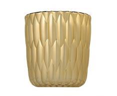 Kartell 1228GG Vase Jelly metallisiert, 25 x 23,5 cm, gold
