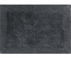 Linea Due beidseitig verwendbar Badteppich 100% Baumwolle, ultra soft, PRIMO, Badematte 60x90cm, anthrazit