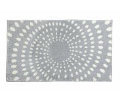 SCHÖNER WOHNEN-Kollektion, Mauritius, Badteppich, Badematte, Badvorleger, Design Kreise - hellgrau, Oeko-Tex 100 zertifiziert, 60 x 60 cm