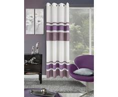 Eurofirany, Ösenschal Miva, violett, 140x250, gestreift Vorhang, 100% Polyester, 0.02 x 140 x 250 cm