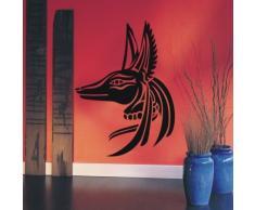 INDIGOS WG10419-70 Wandtattoo W419 Anubis Ägypten Rächter Wandaufkleber 80 x 58 cm, schwarz