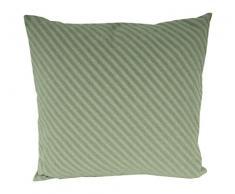 David Fussenegger 77525155 Bali Kissen Diagonalen, Baumwoll-Mischgewebe, hellgrün, 50 x 50 x 1 cm