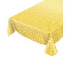 ANRO Wachstuchtischdecke Wachstuch Wachstischdecke Tischdecke abwaschbar Gelb Retro Uni Trend 140 x 140cm