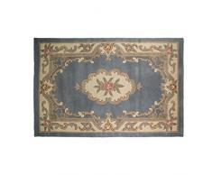Flair Rugs Teppich, Wolle, blau, 120 cm x 120 cm